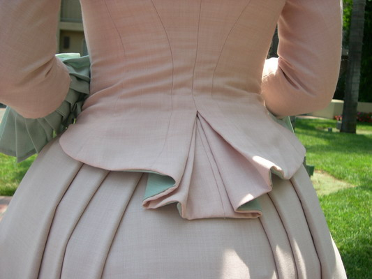 Bustle: A Pink And Green Bustle Dress
