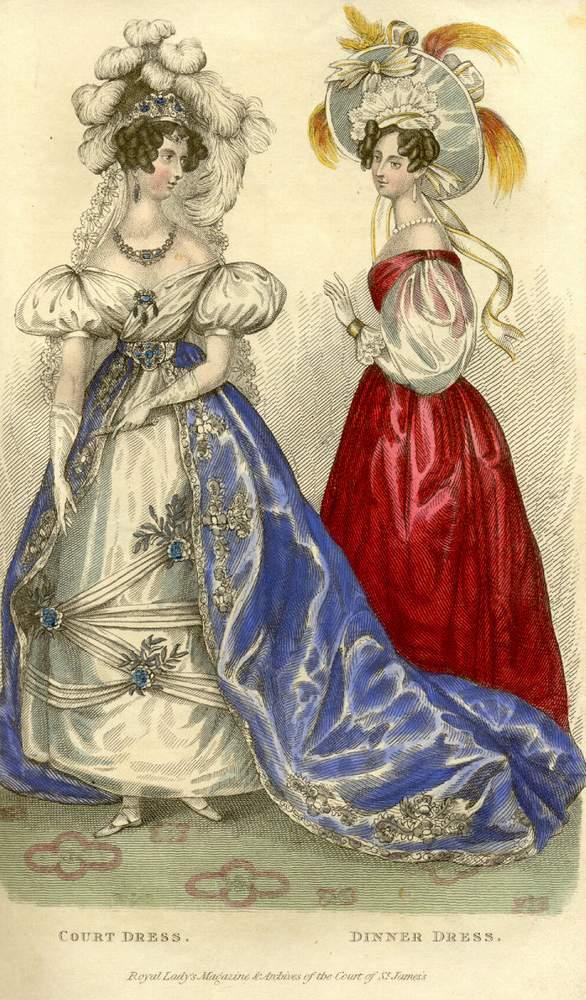 Из апрельского номера журнала мод 1831г